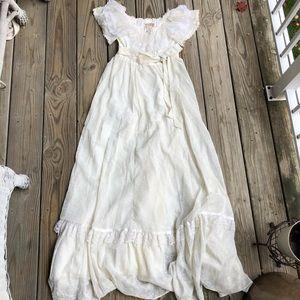 Gunne Sax Vintage Off the Shoulder Peasant Dress